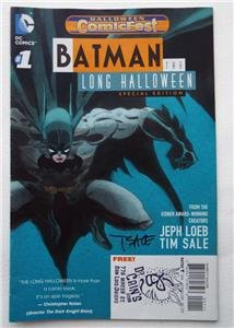 (NEW ECCC 2017 SIGNED Tim Sale BATMAN THE LONG HALLOWEEN Special)