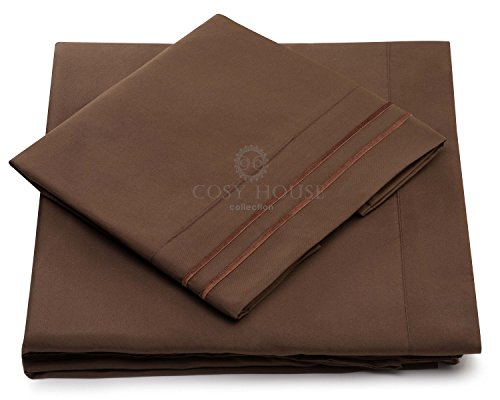 California King Bed Sheets Chocolate Luxury Sheet Set