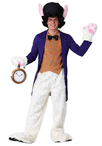 Fun Costumes Adult White Faux Fur Rabbit Costume Standard -