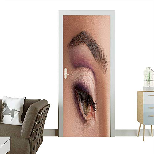 8809ed08a04 Homesonne 3D Photo Door Murals Colorful Eye Makeup to advertise Cosmetics.  Easy to Clean and