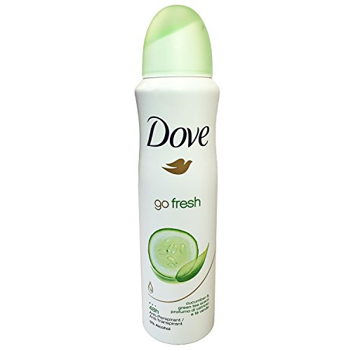 Dove Go Fresh Cucumber & Green Tea Antiperspirant Spray Deodorant For Women 150 ml ( Pack of 10 )