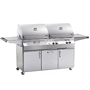 Fire Magic Aurora A830s Propane Gas And Charcoal Combo Grill On Cart, Stainless Steel