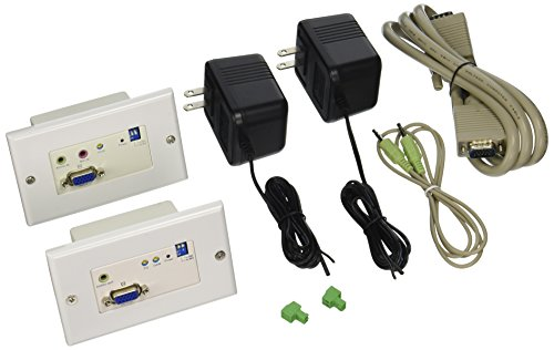 StarTech.com STUTPWALLA VGA Wall Plate Video Extender over Cat5 with Audio by StarTech