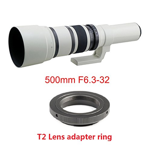 Jili Online 500mm f/6.3 Telephoto Mirror Fixed Lens for Canon 450D 550D 650D 750D 760D by Jili Online (Image #2)