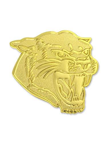 PinMart Gold Chenille Cougars Mascot Letterman's Jacket Lapel Pin 1