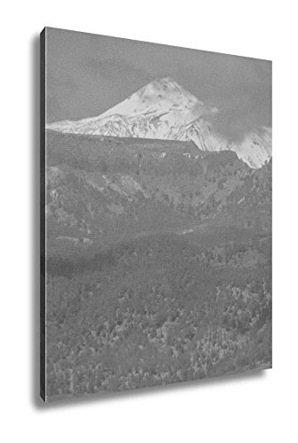Ashley Canvas Photo Picture Of The Snow Covered Mount Teide Tenerife Spain, Wall Art Home Decor, Ready to Hang, Black/White, 20x16, AG6027328 by Ashley Canvas