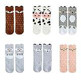 Bestjybt Baby Socks Infant Kids Toddler Socks Knee High Socks Animal Stockings - 6 Pairs