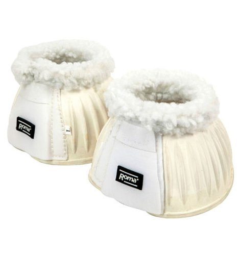 Roma Fleece Trim Rubber Bell Boot - Full - (Fleece Bell)