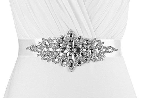(Lovful Women's Crystal Sash Belts Wedding Belt Sashes for Wedding Dress)