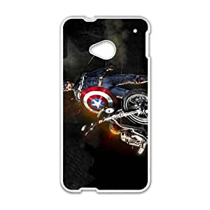 Captain Americ HTC One M7 Cell Phone Case White persent xxy002_6920278