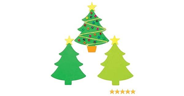 Baker Ross Plantillas de espuma Árbol de Navidad (Pack de 30) - Artes y manualidades festivas: Amazon.es: Amazon.es