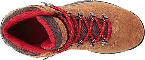 Columbia Women's Newton Ridge Plus Waterproof Amped Hiking Boot Elk, Mountain Red
