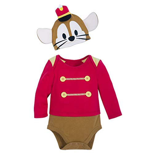 Disney Timothy Mouse Costume Bodysuit with Cap for Baby - Dumbo Size 18-24 MO]()