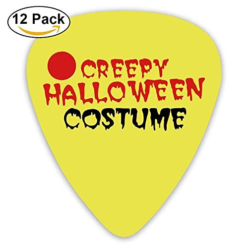 AIRCRY SHOP Celluloid Guitar Picks Awesome Accessory For Guitarist Mandolin Guitar Plectrums,Impression Creepy Halloween Costume With Eyeball,12 Pack,0.46Mm/0.73Mm/0.96Mm, Accessories ()