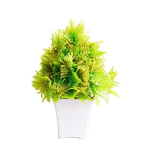 Neon Party - 1pc Potted Artificial Grass Bonsai Performance Garden Wedding Home Party Decor Parks Fashion - Mini Century Decorative Fish Variety Roses Spray Arrangements Aquatic National Stems -