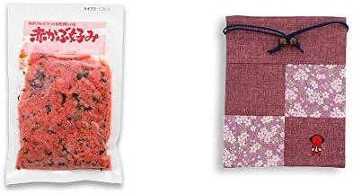 [2点セット] 赤かぶ好み(150g)・おねがいさるぼぼ 巾着【エンジ】