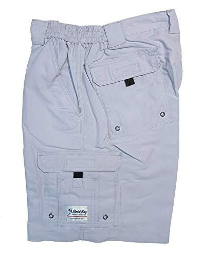 Bimini Bay Outfitters Men's Boca Grande II with BloodGuard Nylon Short (Pearl Grey, 40)