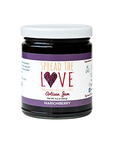 - Spread The Love MARIONBERRY Artisan Jam, 11.5 Ounce, All Natural, Vegan, No Preservatives, GMO and Gluten Free, Made in Oregon
