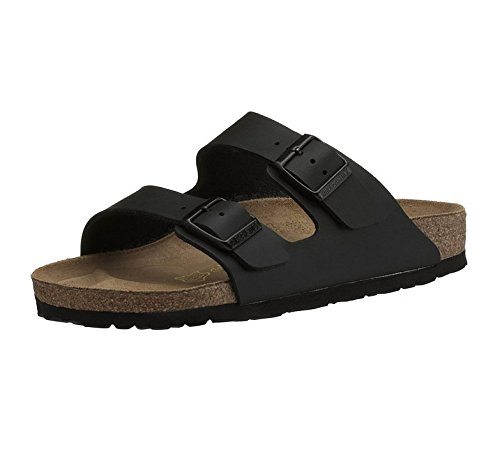 Birkenstock ARIZONA Unisex Leather Mule Twin Buckle Sandals Black 39 Buckle Mule