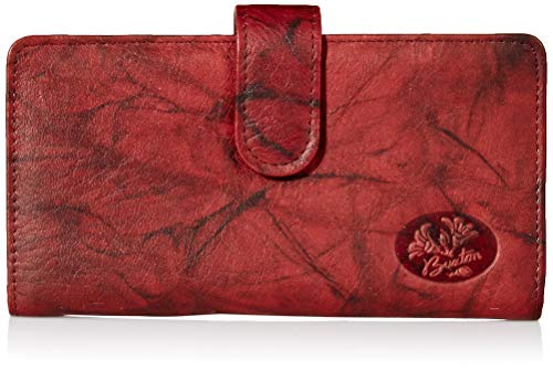Buxton Heiress Pik Me Up - Checkbook & Credit Card Holder Wallet, Burgundy