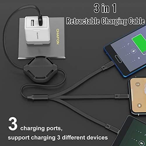 Suitable for Apple Etc. N//C Snoopy3-In-1 Telescopic Multi-Function Charging Cable Tpye-C Universal Interface Android