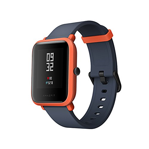 Smart Watch, Amazfit Bip GPS Fitness Tracker Call Message App Reminder for iOS Android phones IP68 Water-proof Pedometer Pace Calories Heart Rate Monitor for Running Treadmill Cycling (Cinnabar Red)