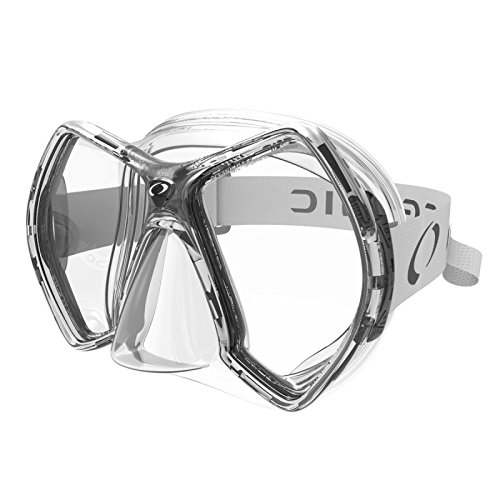 Mask Clear Scuba Dive - Oceanic Cyanea Ultra Scuba Mask - Clear Lens - Clear/Gray