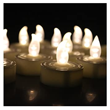 AGPTEK 60 PCS Flameless Tea Lights Cool White Battery Operated No Flicker Steady LED Candles for Wedding Party Festival Decoration Occasions