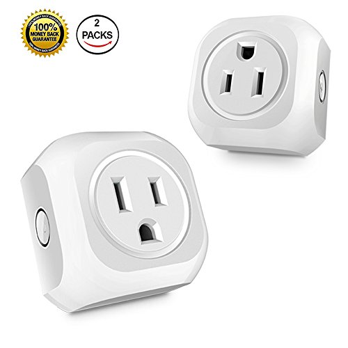 Wifi Smart Plug Mini Smart Plug Outlet Socket Compatible with Amazon Alexa Echo Dot and Goggle Home Assistant Remote Control Devices with Timing Function With Smart phone 2 Pack No - Outlet Goggle