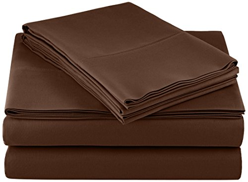 AmazonBasics Microfiber Sheet Set Chocolate