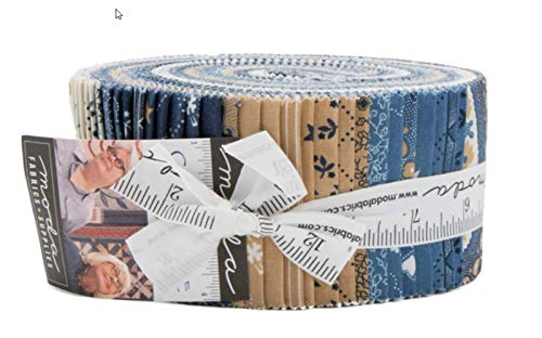 - Crystal Lake Jelly Roll 40 2.5-inch Strips by Minick & Simpson for Moda Fabrics
