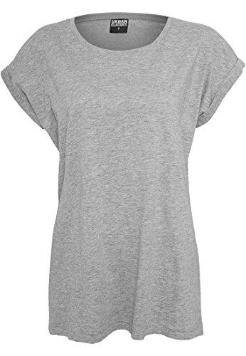 Urban Classics Ladies Extended Shoulder Tee, Camiseta para Mujer gris