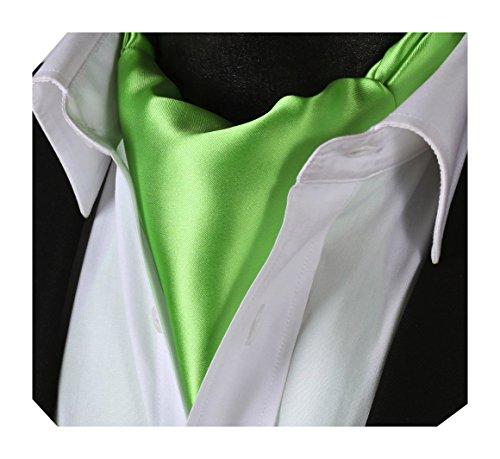 Tie Handkerchief Solid BIYINI Woven Ascot Color Men's Jacquard Green Cravat ywAqfq8Ix5