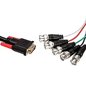 YF cyk 2 M 199.95 cm DVI (24 + 5) Macho-Display-Cable de señal 5BNC