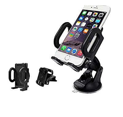 EachTong Universal Car Navigator Bracket Phone Holder Outlet Sucker Car Carrier Car Holder with 360° Rotation for iphone x/iPhone 8/7 Plus/6S/6 Plus 5S,Samsung Galaxy S7/S6 edge/S8 and More