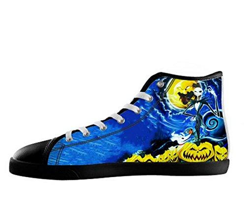 De Nachtmerrie Voor Kerst Logo Mens Antislip Zwart Hoge Schoenen Tnbc Canvas Shoes28