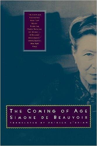 The Coming Of Age Simone De Beauvoir Patrick Obrian