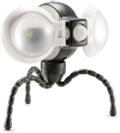 Equipt EQBPL092 Weather Resistant Portable Multi-Functional 360 Double LED Motion Sensor Light for Outdoor Lighting