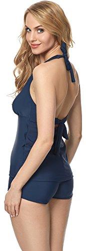Merry Style Tankini para Mujer MS10-117 Azul Oscuro (6219)