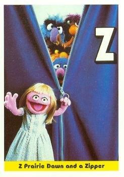 Prairie Dawn trading card (Sesame Street) 1992 IM Henson #42 The Letter Z Zipper Monsters ()