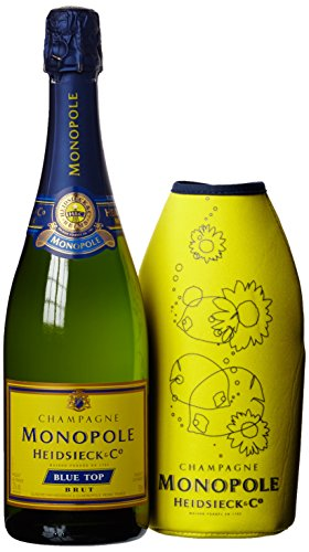 Monopole Heidsieck Blue Top Brut Champagner mit Neopren Gelb (1 x 0.75 l)