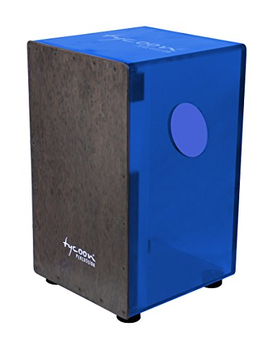 Tycoon 29 Series Royal Blue Acrylic Cajon with Black Makah Burl Front Plate