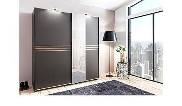 Wimex Bonn 2 Puerta corredera Armario alemán Hecho Muebles de Dormitorio Espejo Moderno Espejo: Amazon.es: Hogar