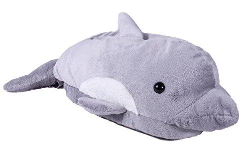 Happy Feet - Dolphin - Animal Slippers - Medium