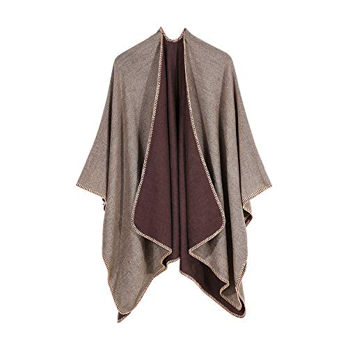 Woaills-Tops 2018 Women Sweater Coat,Ladies Winter Knitted Cashmere Poncho Capes Shawl Cardigans (Free, Khaki 2)