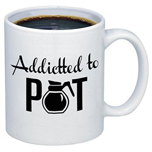 P&B Addicted To Pot Ceramic Coffee Mugs M303 (11 oz.)
