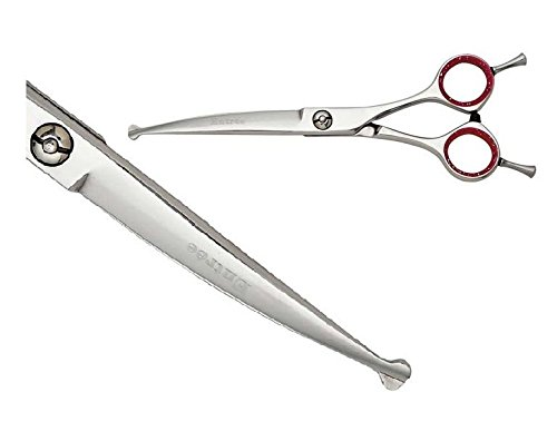Geib Entree Ball Tip 6.5'' Curved or Straight Professional Dog Grooming Shears(6.5'' Curved)