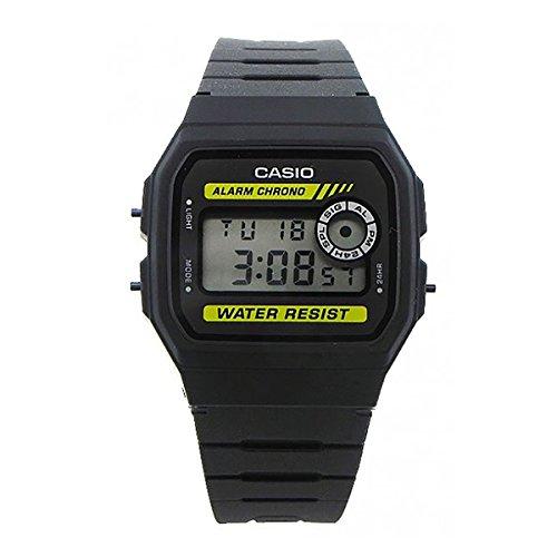 Casio F-94Wa-9Dg Men's Digital Multi-Function Black Rubber (Multifunction Black Rubber Watch)