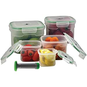 Chefs Basics Select HW0165 5-Piece Vacuum Seal Container Set