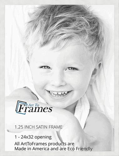 Amazon.com - ArtToFrames 24x32 inch Satin White Frame Picture Frame ...